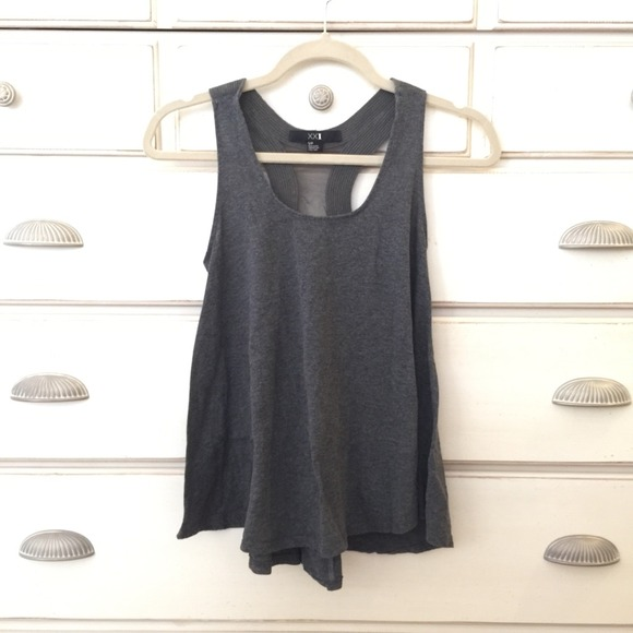Tops - Simple charcoal grey tank