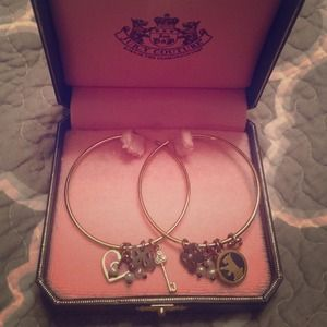 Juicy Couture Charm Hoops Earrings New in Box
