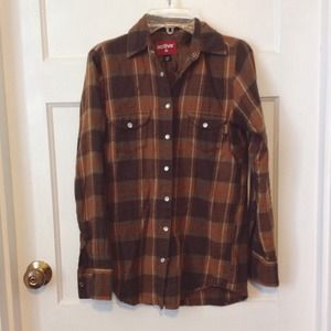 Tops - Brown Plaid Flannel