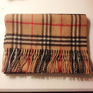Accessories - Tan Plaid Burberry inspired scarf