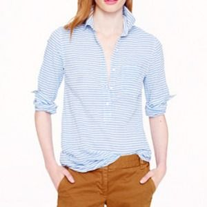 SALE! J. Crew Rumpled Stripe Popover.