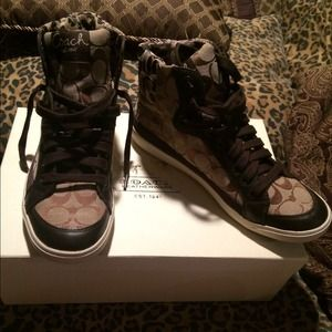 BRAND NEW COACH HIGH TOP SNEAKERS!