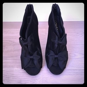 Authentic Chanel Bow Booties