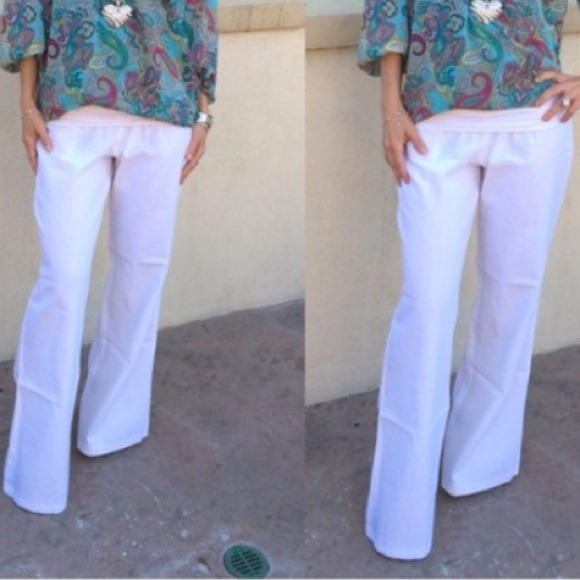 74% off Love Tree Pants - White linen pants from ! amber's closet ...