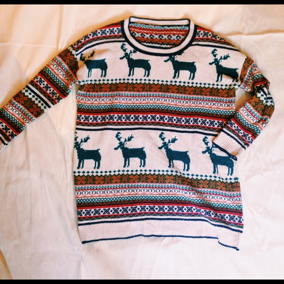 48% off Sweaters - Oversized Deer/snowflake fair isle sweater from ...