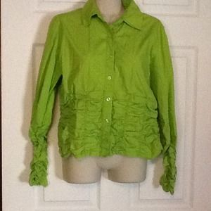 Lime Green METRO style top