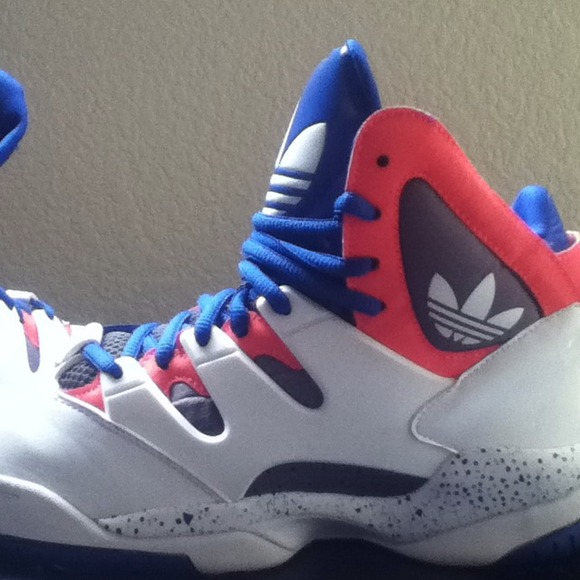 55 adidas shoes pink blue grey and white high