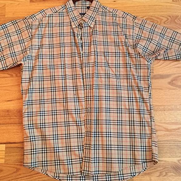 f40a3efa0 Burberry Shirts | Mens Short Sleeve Button Down Shirt | Poshmark