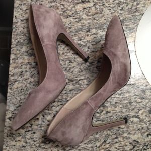 Shoemint Shoes - ShoeMint gray suede heels