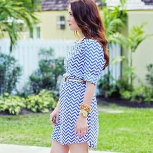 Dresses & Skirts - Chevron shift dress, so versatile!!