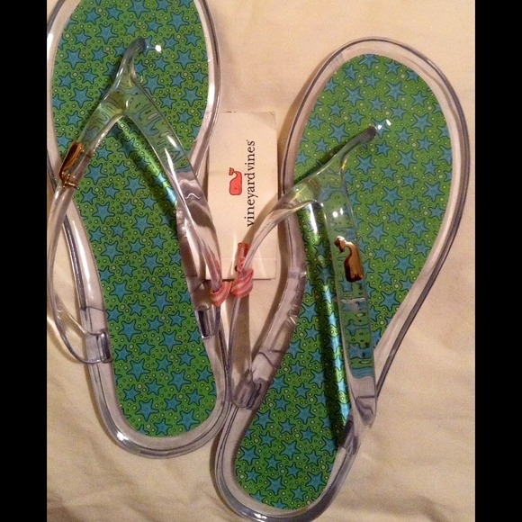 Vineyard Vines Shoes Nwt 2014 Star Fish Jelly Flip Flops