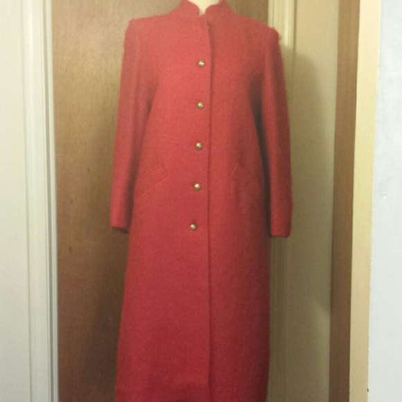 vintage Jackets & Blazers - Vintage Red Mohair Coat