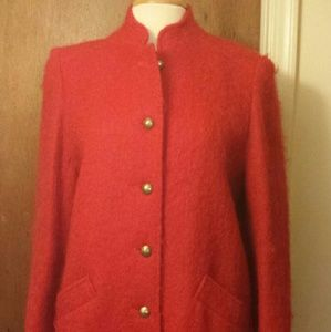 vintage Jackets & Coats - Vintage Red Mohair Coat