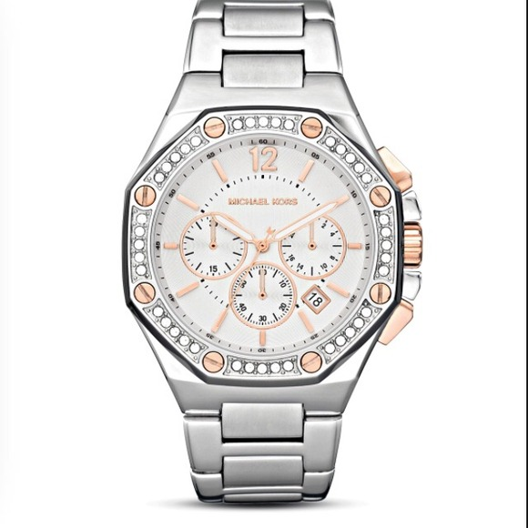 MK Jet Set 5504- Octagonal Chronograph Watch