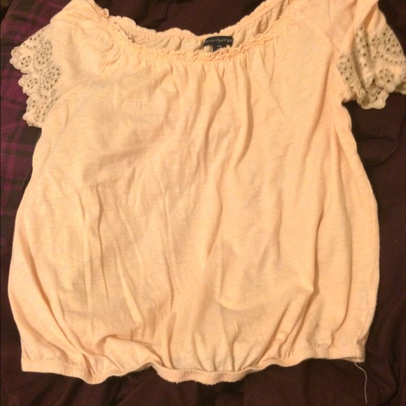 60 Off American Eagle Outfitters Tops Pink Shirt From