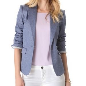 Brand new Alice and Olivia Elyse Chambray jacket