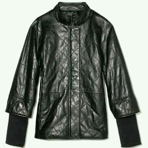 Isaac Mizrahi Quilted Leather Jacket