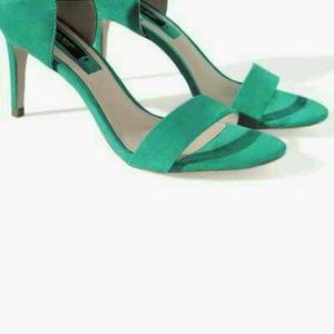 Zara Shoes - Teal High Heeled Sandal