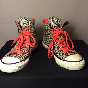 e565bd9e670c Converse Shoes - Leopard print bright orange Chuck Taylor