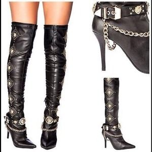 Jeffrey Campbell over the knee purrdy  boots SICK