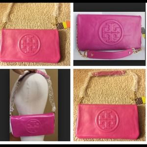 Pink Tory Burch clutch