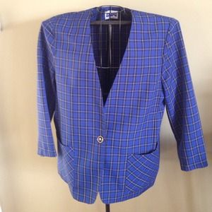 CAPE COD Jackets & Blazers - PLAID IS IN STYLE THIS YEAR! PLAID BLUE BCK BLAZER
