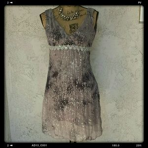 Michael F. Dresses & Skirts - Gorgeous silver & gray dress w/sequins/beads