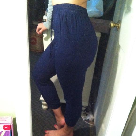 56% off Francesca's Collections Pants - Francesca's navy blue high ...