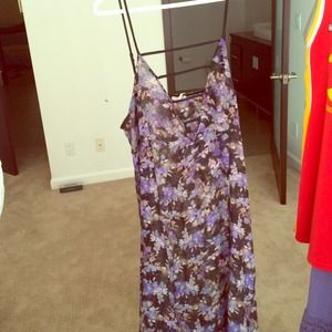 translucent free people floral dress long