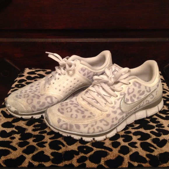 White Cheetah Tennis Shoes