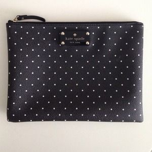 Kate Spade blk/white Polka Dot Clutch