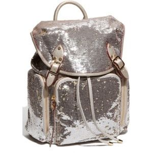 Victoria's Secret Other - BRAND NEW SILVER SEQUIN BACKPACK