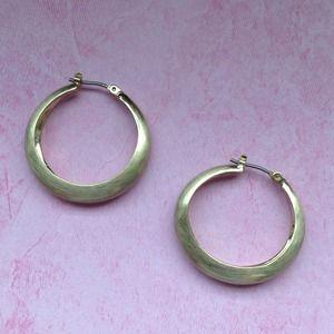 Jewelry - Matte Gold Hoop Earrings