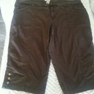 Pants - 2 pairs of capri's brown and black
