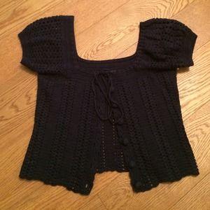 Betsey Johnson Navy Crop Sweater