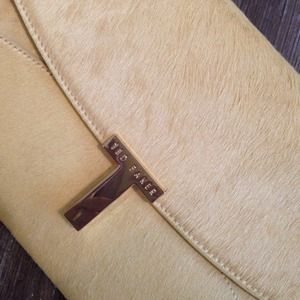 Ted Baker Handbags - NWT Ted Baker calf hair yellow clutch