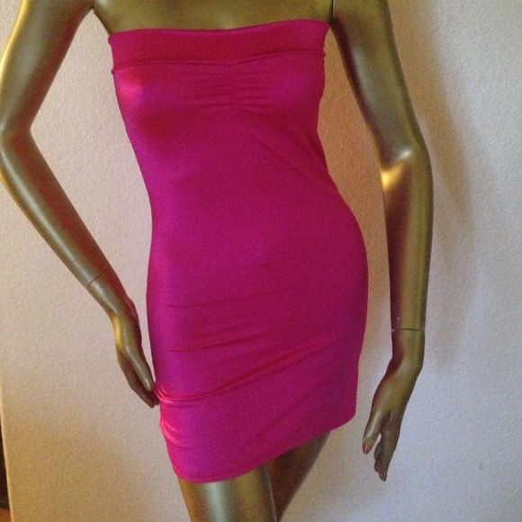 69% off Dresses &amp Skirts - NEW! Hot Pink spandex dress from ...