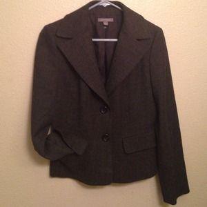 ANN TAYLOR Gray Blazer SZ 6 Wool Rayon/Lycra