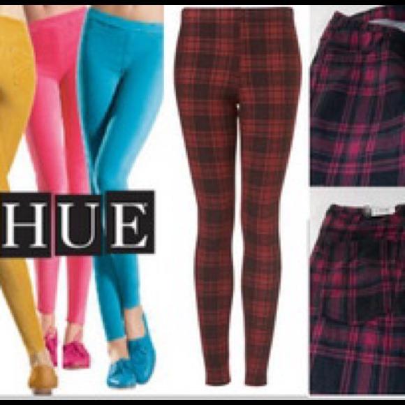 b32ba8f94f1095 HUE Jeans | Red Plaid Jean Leggings | Poshmark