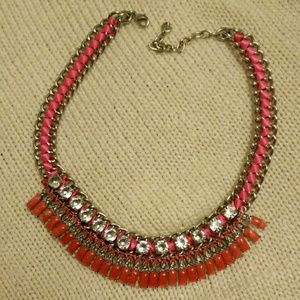 LOFT Jewelry - Pink bib necklace