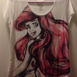 Disney Princess Ariel open back tshirt