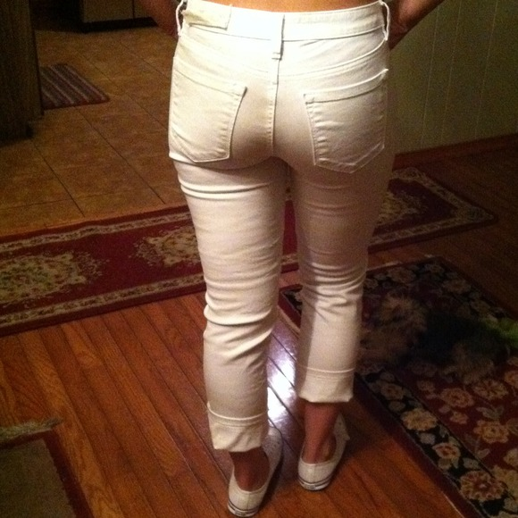 54% off LOFT Pants - Loft white jeans from Julianna's closet on ...