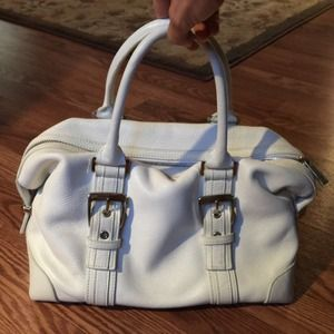 Express Handbags - EXPRESS white leather satchel