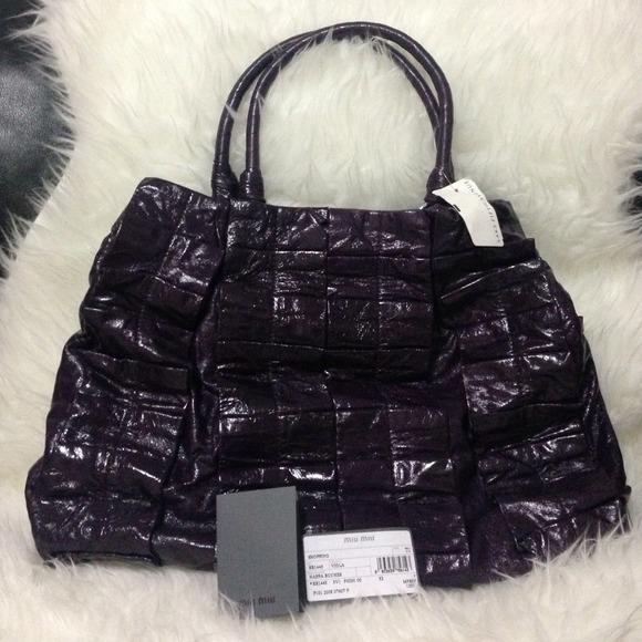 e824be1d457db Miu Miu Bags | 100 Authentic Viola Nappa Tote Bag | Poshmark
