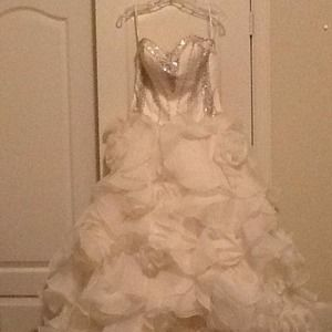 Terani Couture Dresses & Skirts - Terani Couture gown. Swarovski stones front/back