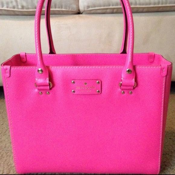 kate spade Handbags - 🚫SOLD🚫 NWOT Kate Spade Wellesley Bag in Hot Pink