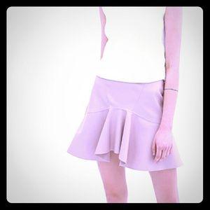 ZARA navy blue frill mini skirt.