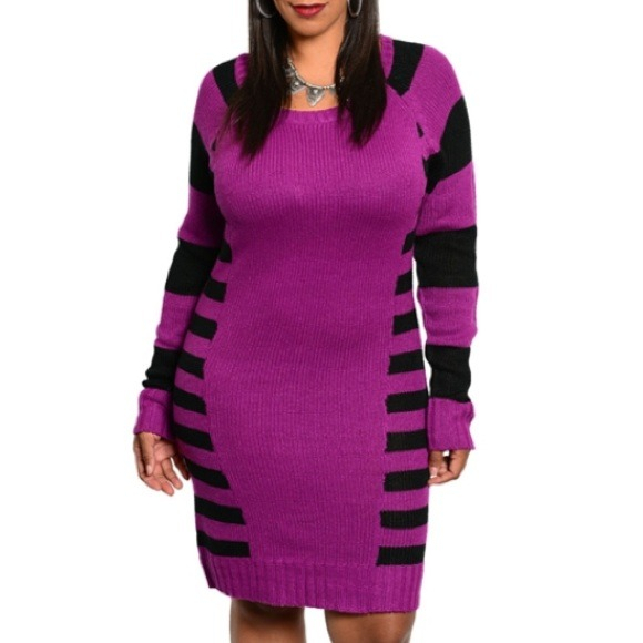 77% off Dresses & Skirts - Brand New Plus Size Purple Sweater ...
