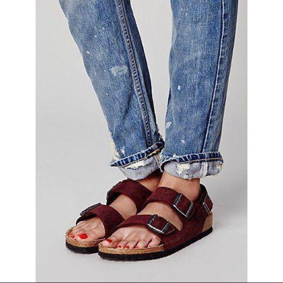 98 Off Birkenstock Shoes Sold 🌀110🌀free People Maroon
