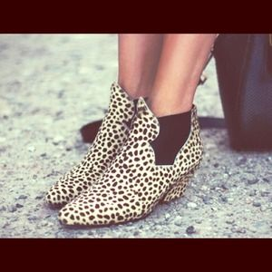 Acne Shoes - Acne studios Alma leopard pony hair ankle boots